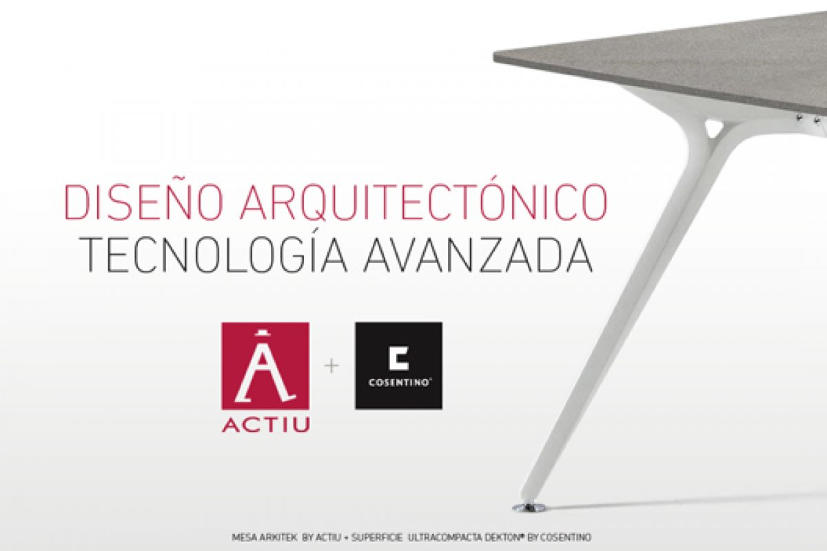 Actiu & Cosentino presents at Habitat Fair in Valencia  their innovative fusion