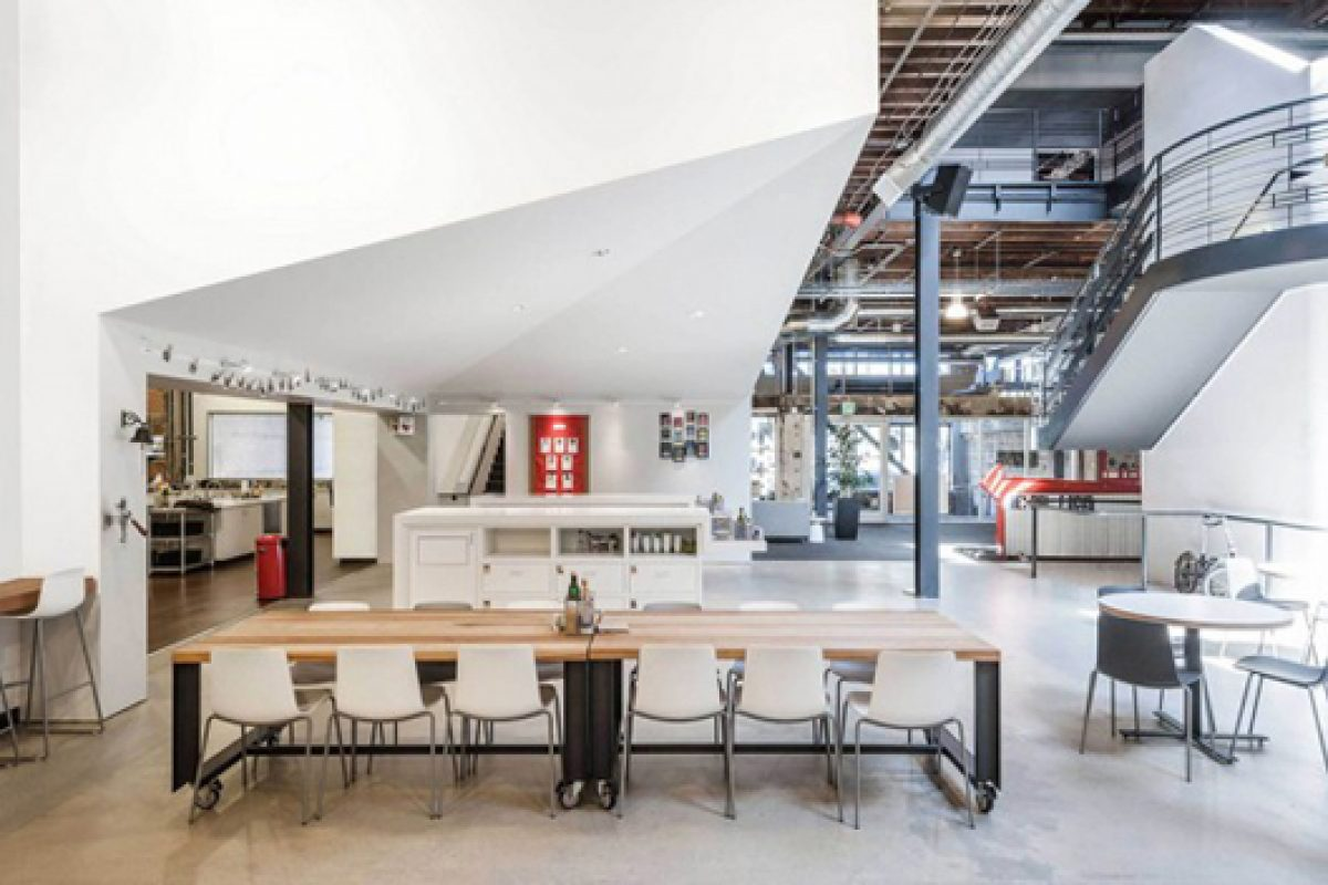 The Lottus seating by Enea chosen for Pinterest San Francisco headquarters and Comcast offices in Silicon Valley Innovation Center
