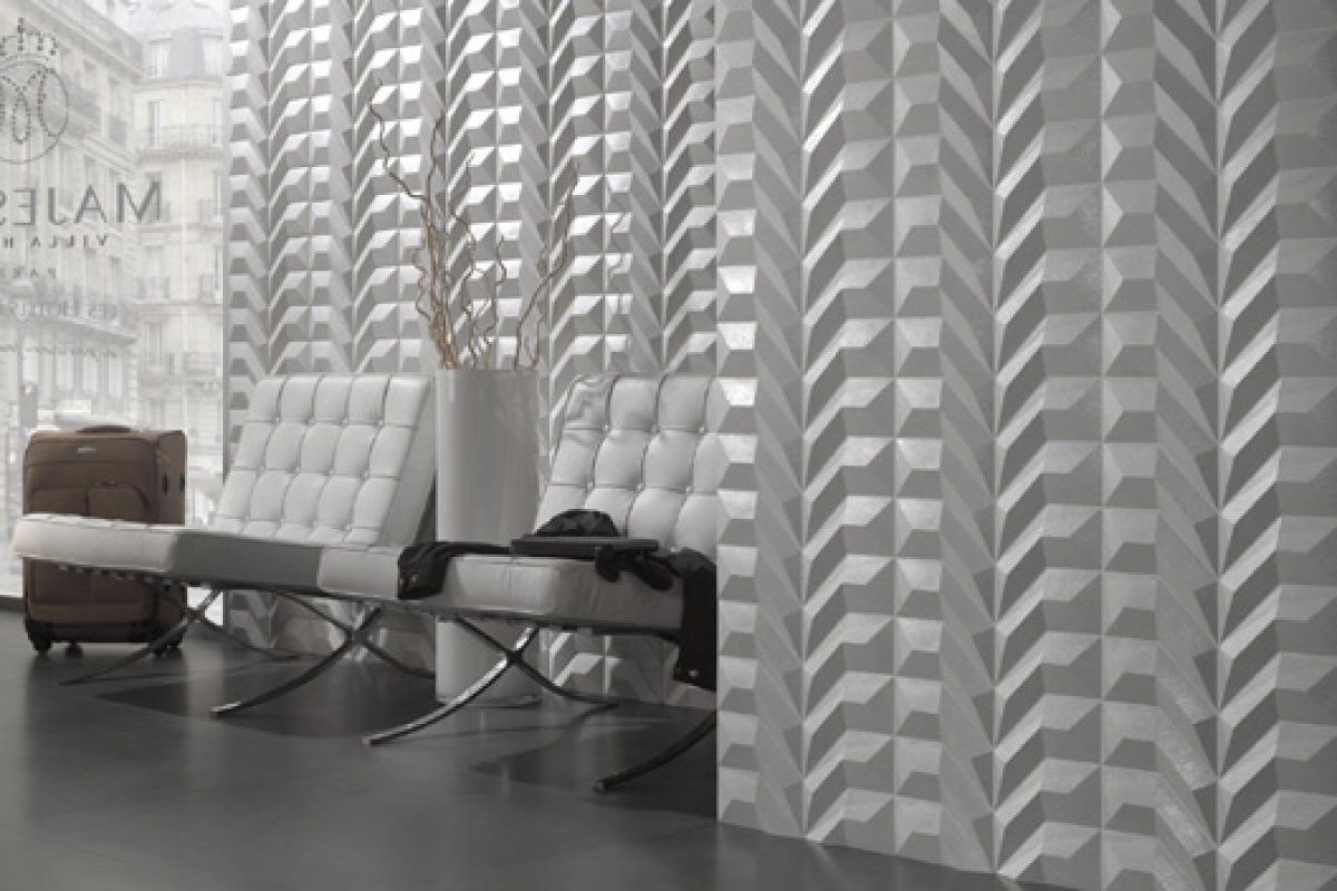 Dsignio studio creates the wall covering collection Gen for Peronda. Modular geometry