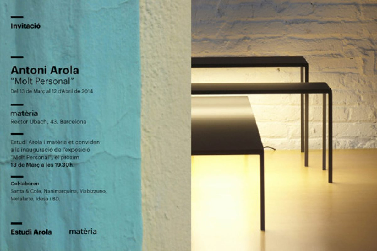 Exhibition «Molt Personal»: Matèria displays a journey through the Antoni Arola creativity