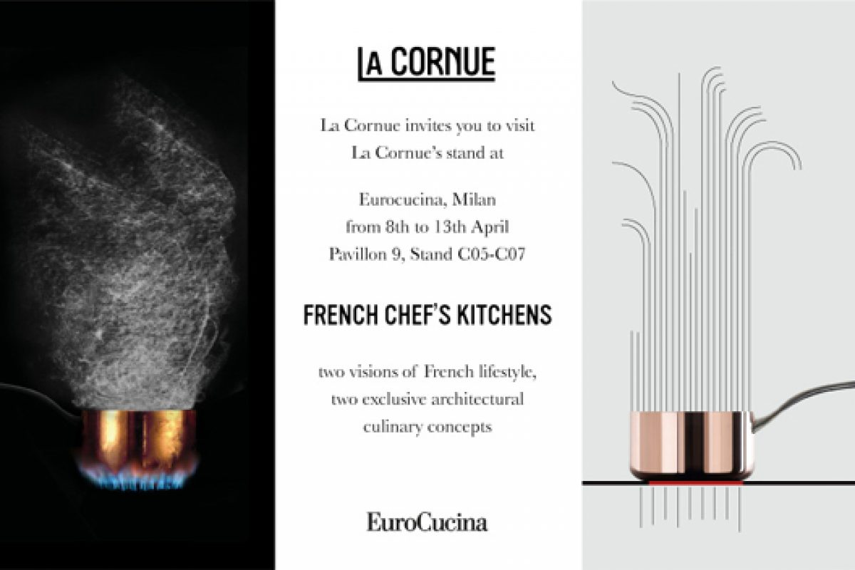 French kitchen company La Cornue presents its architectural culinary concepts at Eurocucina 2014