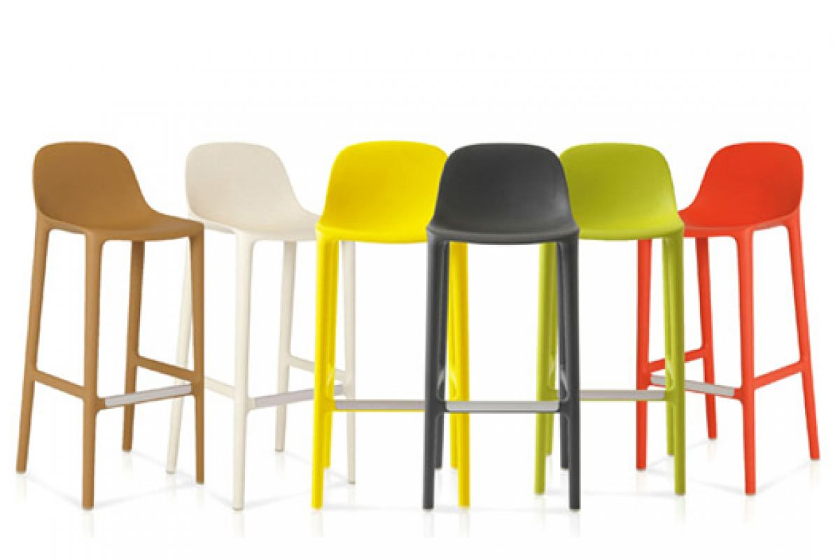 Philippe Starck completes the Broom collection for Emeco with new barstool