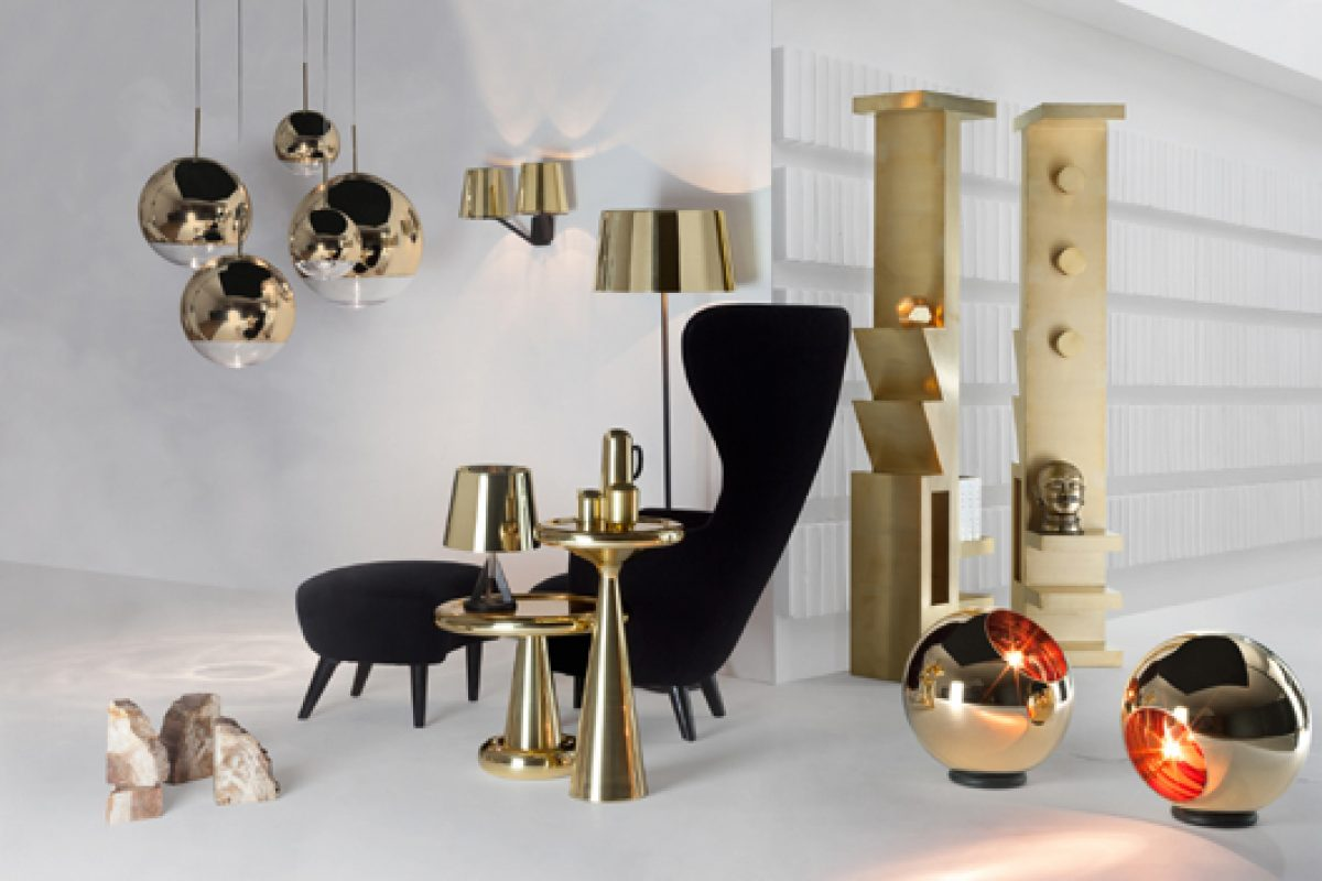 The metallic tones set the trend of the new Club concept that Tom Dixon presents in Milan