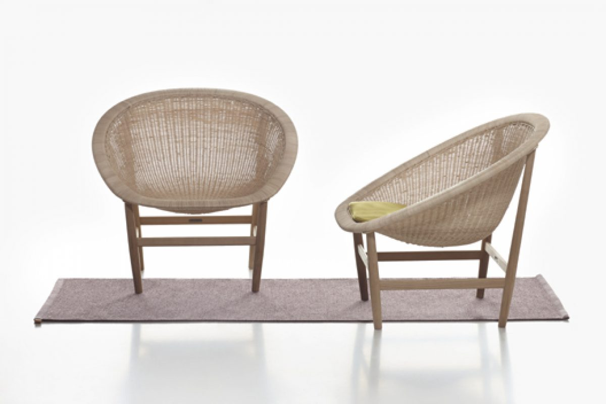 Kettal edits the Basket chair, created in the 1950s by Danish designers Nanna and Jørgen Ditzel
