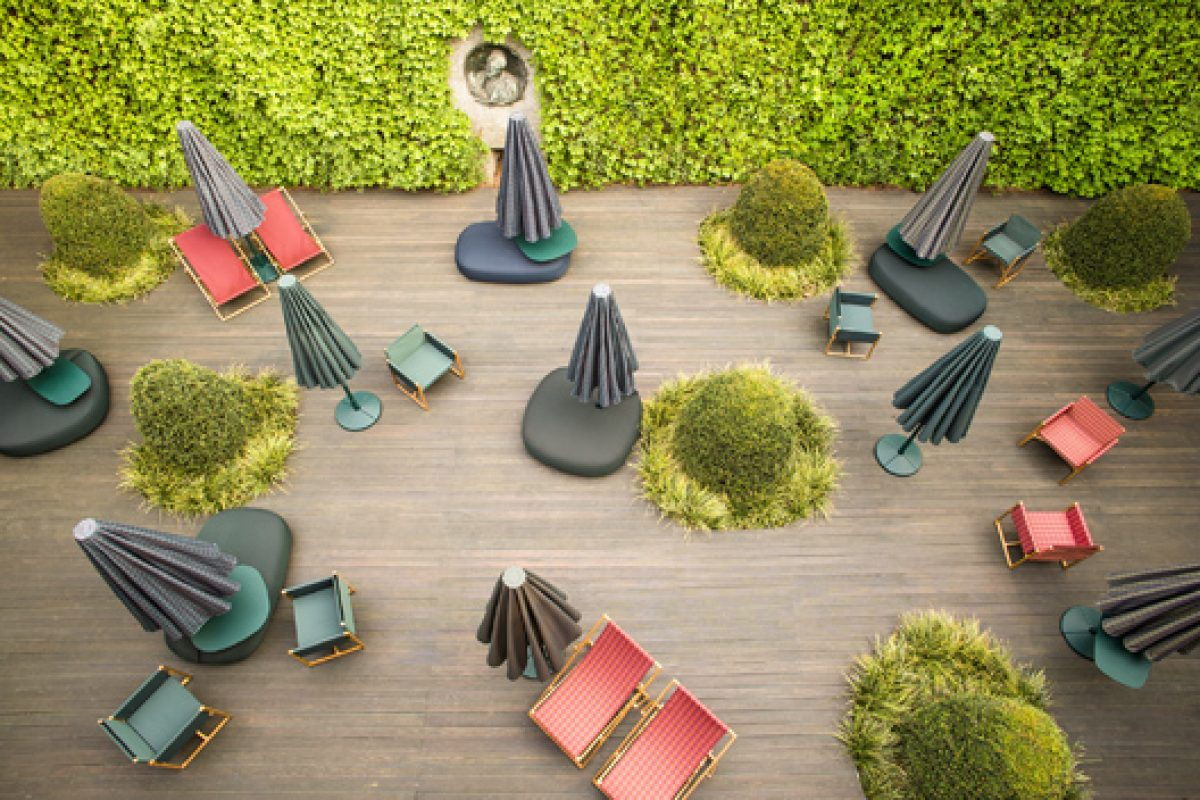The elegance and beauty of Paola Lenti new collections at the singular space Chiostri dell'Umanitaria in Milan
