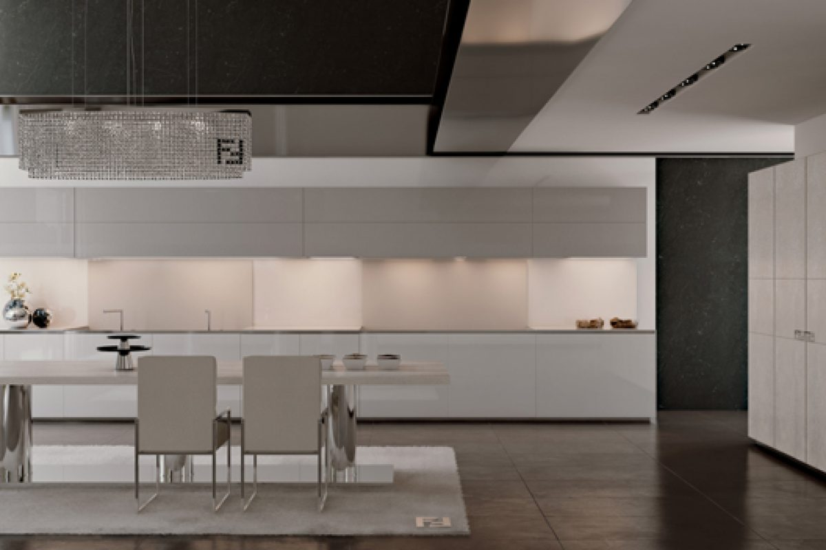 New luxury kitchens by Fendi Casa Ambiente Cucina. Exclusive, elegant and functional tailor-made solutions