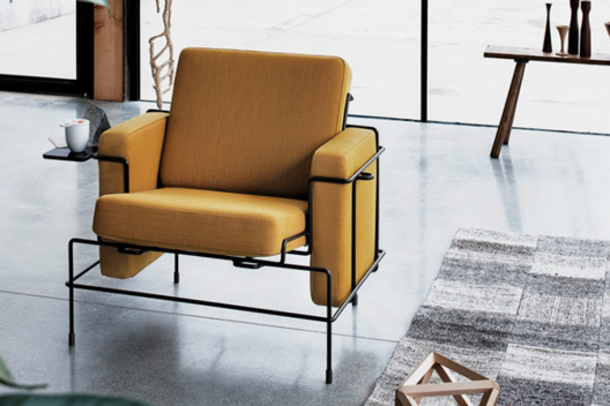 Traffic by Konstantin Grcic for Magis. The union of the metal rod with soft cushions