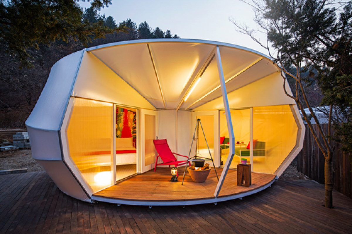 Glamping Architecture, the new experience in camping tents designed by ArchiWorkshop.kr