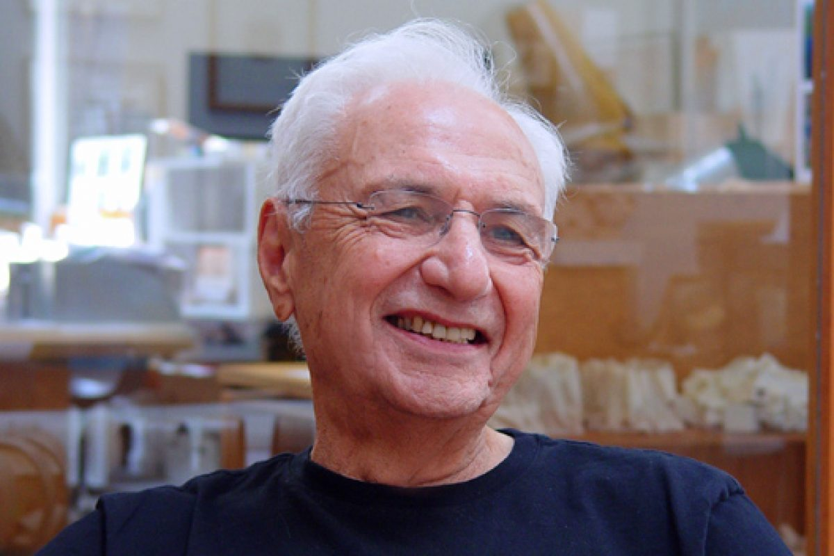 The architect Frank O. Gehry, Prince of Asturias Award for the Arts 2014