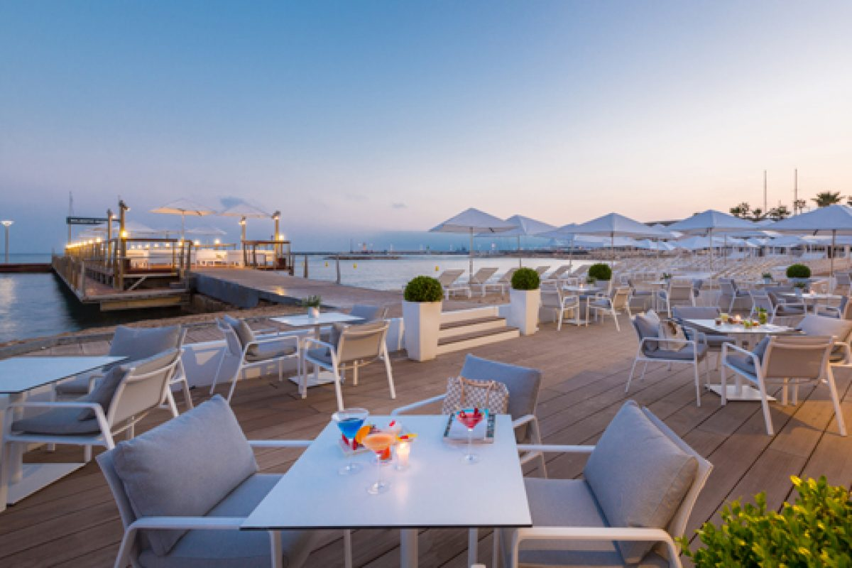Kettal furnishes Beach Club of Cannes' Hotel Majestic Barrière designed by Jean-Philippe Nuel