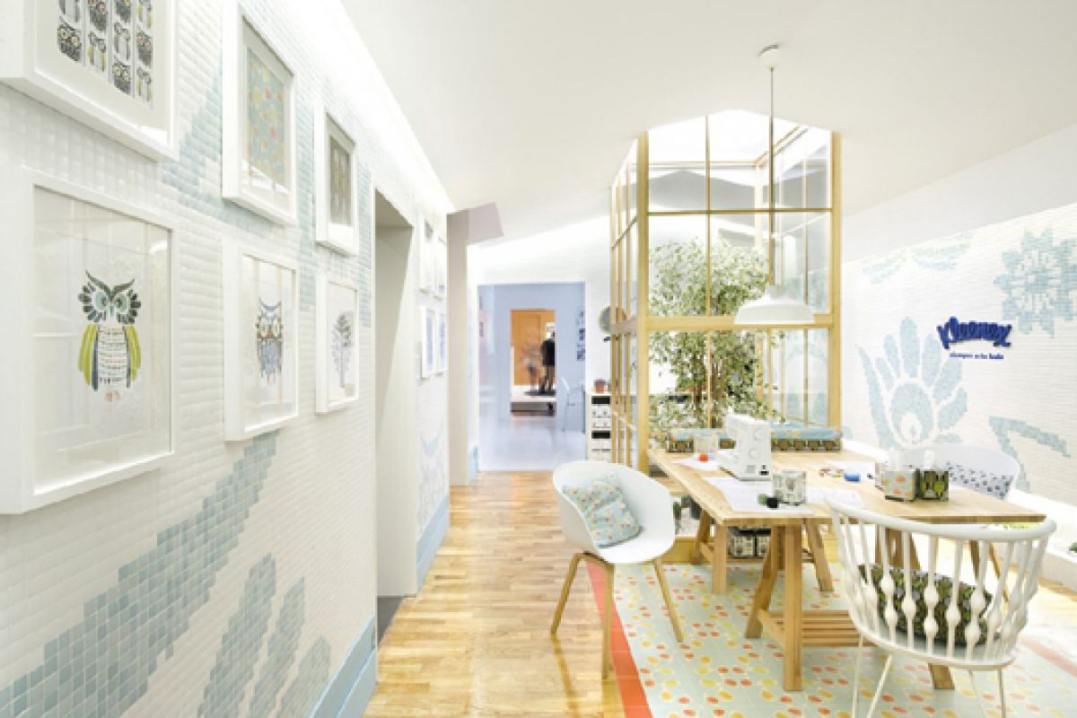 "Egue & Seta designs ""Kleenex eco-Decor"", a cool contemporary space in Casa Decor Madrid 2014"