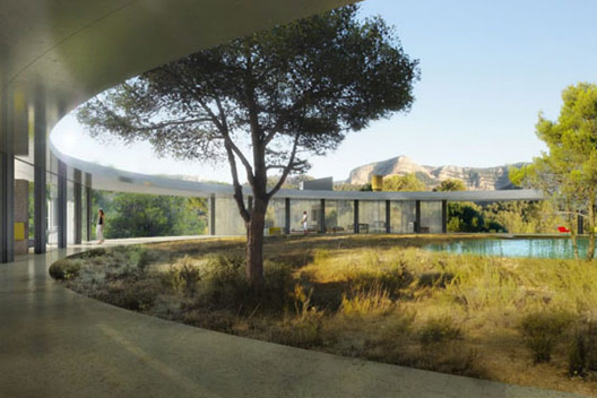 Second Solo Houses villa designed by Office Kersten Geers David Van Severen. Modern architecture in Matarranya