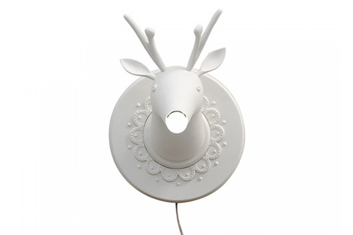 Marnin, hunting trophy ironic wall lamp designed by Matteo Ugolini for Karman