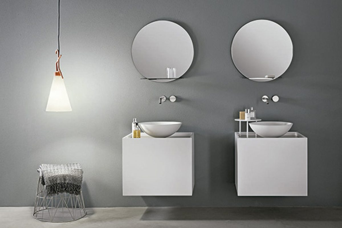 Tender by Makro, a compact size bathroom cabinet designed by Marco Taietta