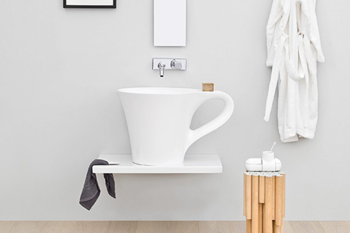 Ironic tribute to the coffee with Cup & Breakfast, designed by Meneghello Paolelli Associati for The.ArtCeram