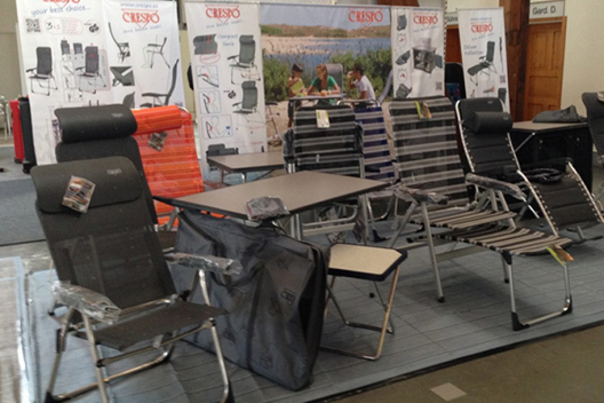 Furniture for camping by Crespo triumphs in Germany, with the help of its dealer Fritz Berger