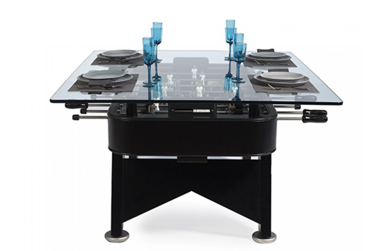 RS Barcelona, in collaboration with chef José Andrés, presents the RS#Dining table, a foosball converted in a dining table