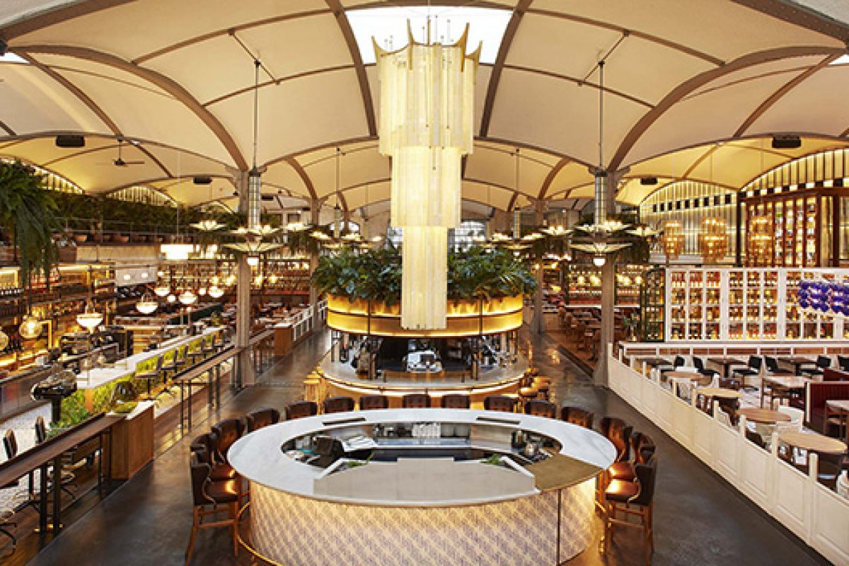 El Nacional: a former modernist garage in Barcelona converted in a culinary multi-zone establishment by Lázaro Rosa-Violán