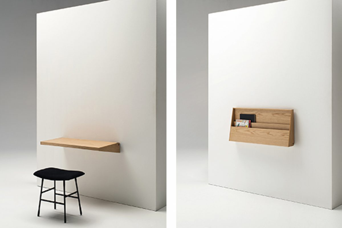 imm cologne preview: practical foldable desk FjU designed by Kaschkasch duo for Living Divani