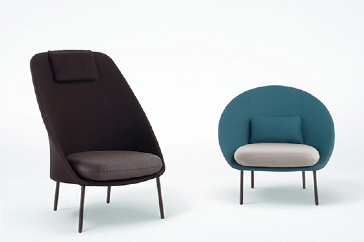 Twins, two independents armchairs but with the same DNA. Designed by Mut Design for Expormim