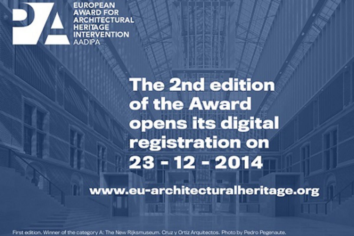 Registration for European Award for Architectural Heritage Intervention AADIPA now open