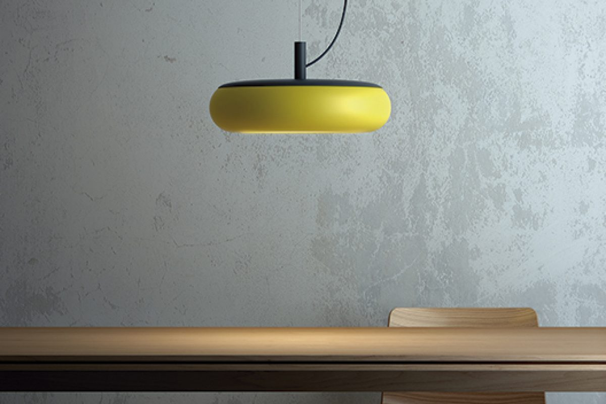 Emma lamp, designed by Goula / Figuera for Estiluz, arrives with a touch of colour