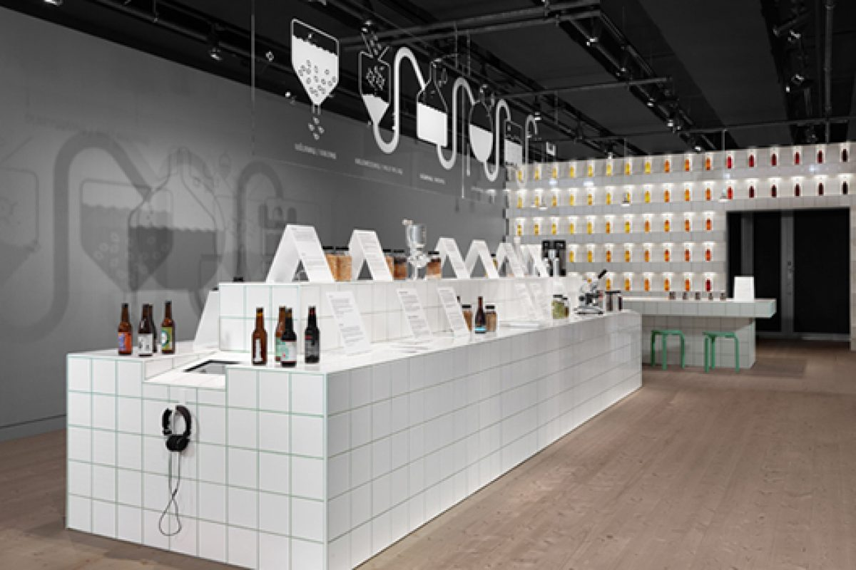 "Culture of craft brewery in the ""Beer"" exhibition designed by Form Us With Love at Spritmuseum"