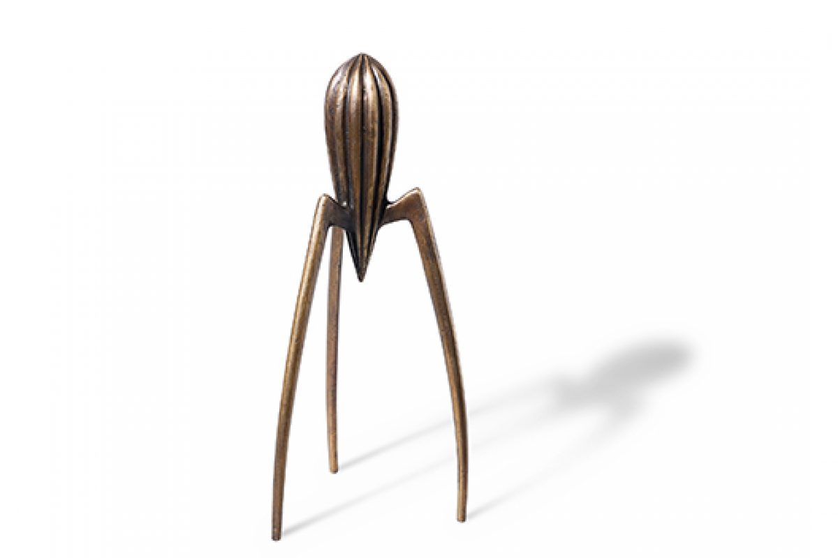 Alessi celebrates the 25th anniversary of Juicy Salif citrus squeezer by Philippe Starck during the Salone del Mobile 2015