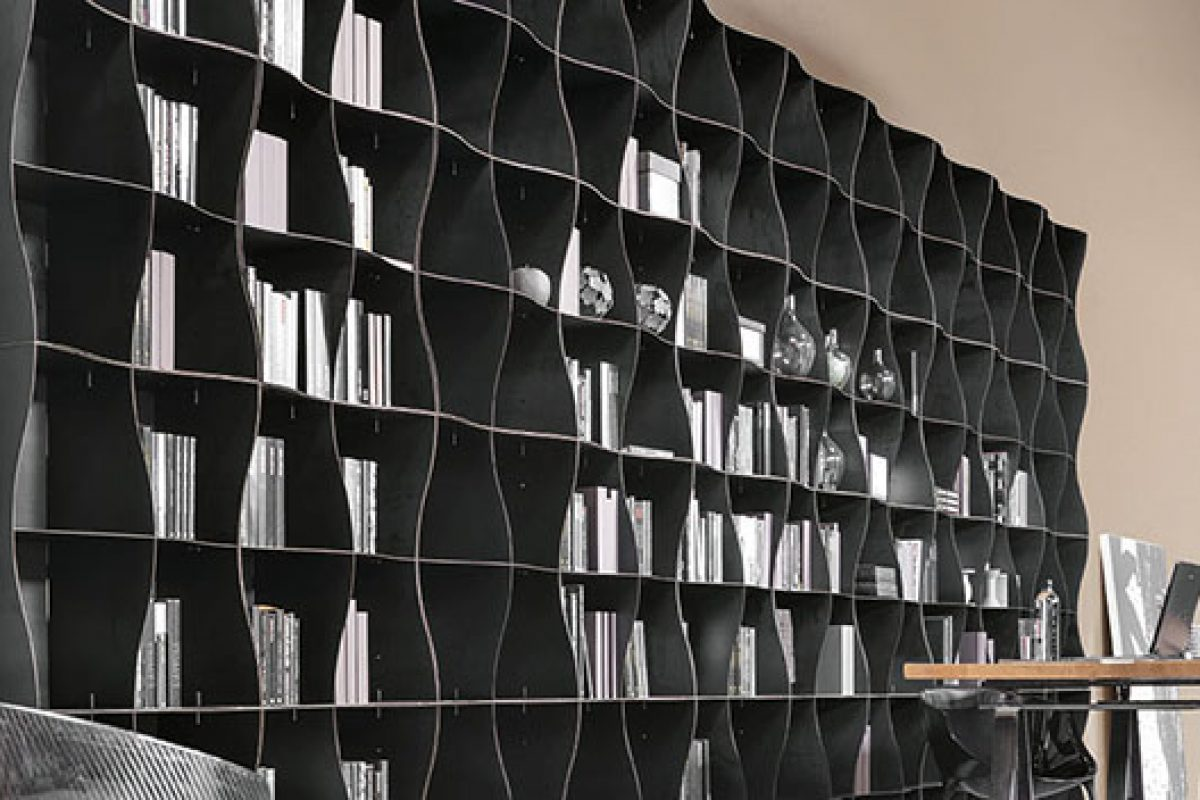 Ronda Design presents the Iron-ic sinuous and versatile bookcase inspired by the sway of the waves