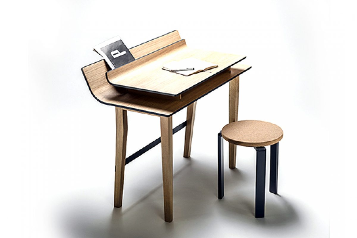Sheets desk designed by Lucie Koldova for Křehký gallery will be at Palazzo Litta during the Milan Design Week