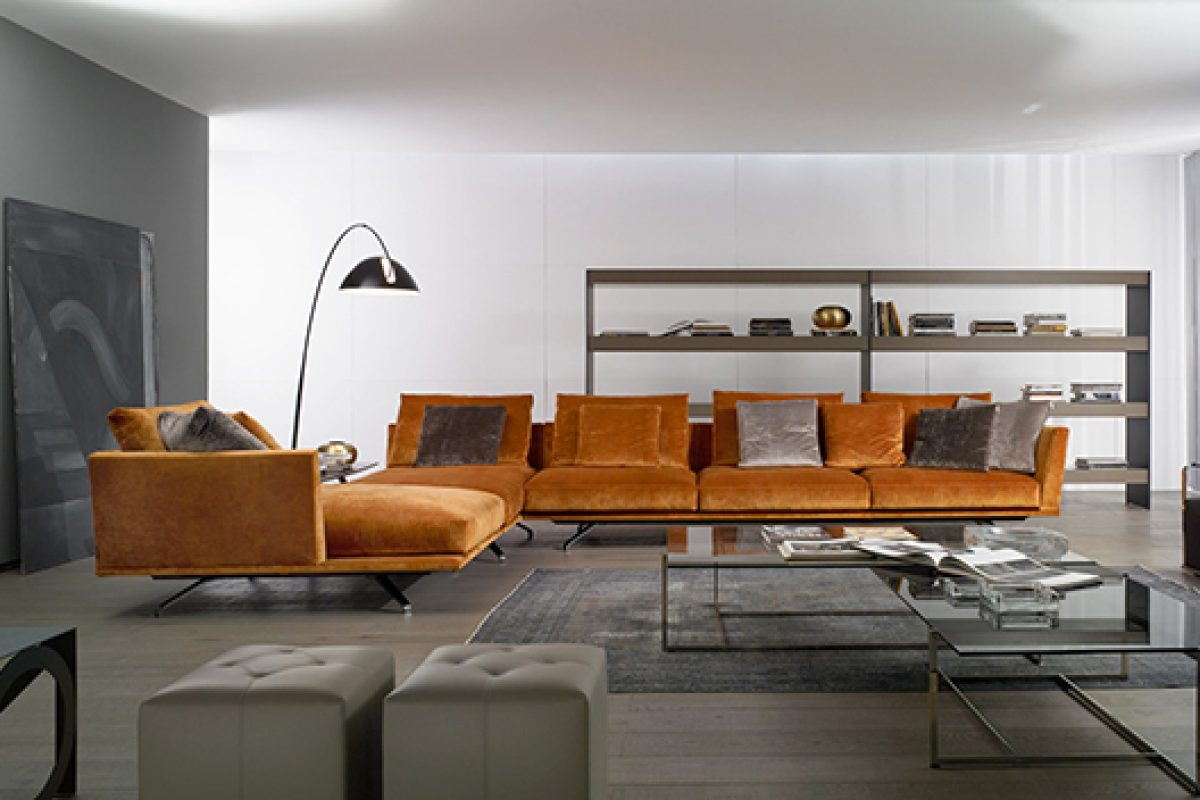 Casadesús presents Shelby, a sofa that floats above the floor with style, designed by G. Vegni and G. Gualtierotti