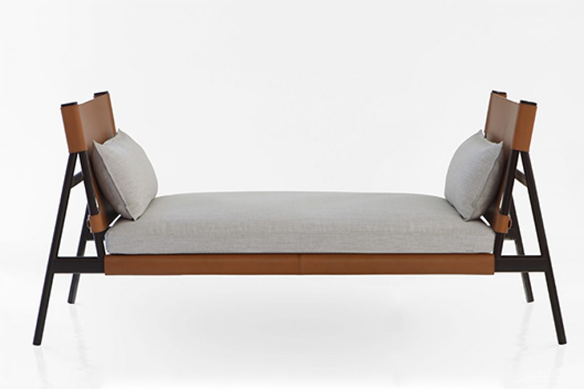 GamFratesi is inspired by the spirit of the traveller to design this daybed for Porro