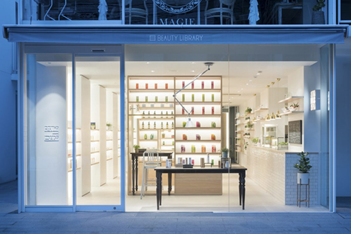 Nendo designs a composite concept store, Beauty Library, at Aoyama, Tokyo