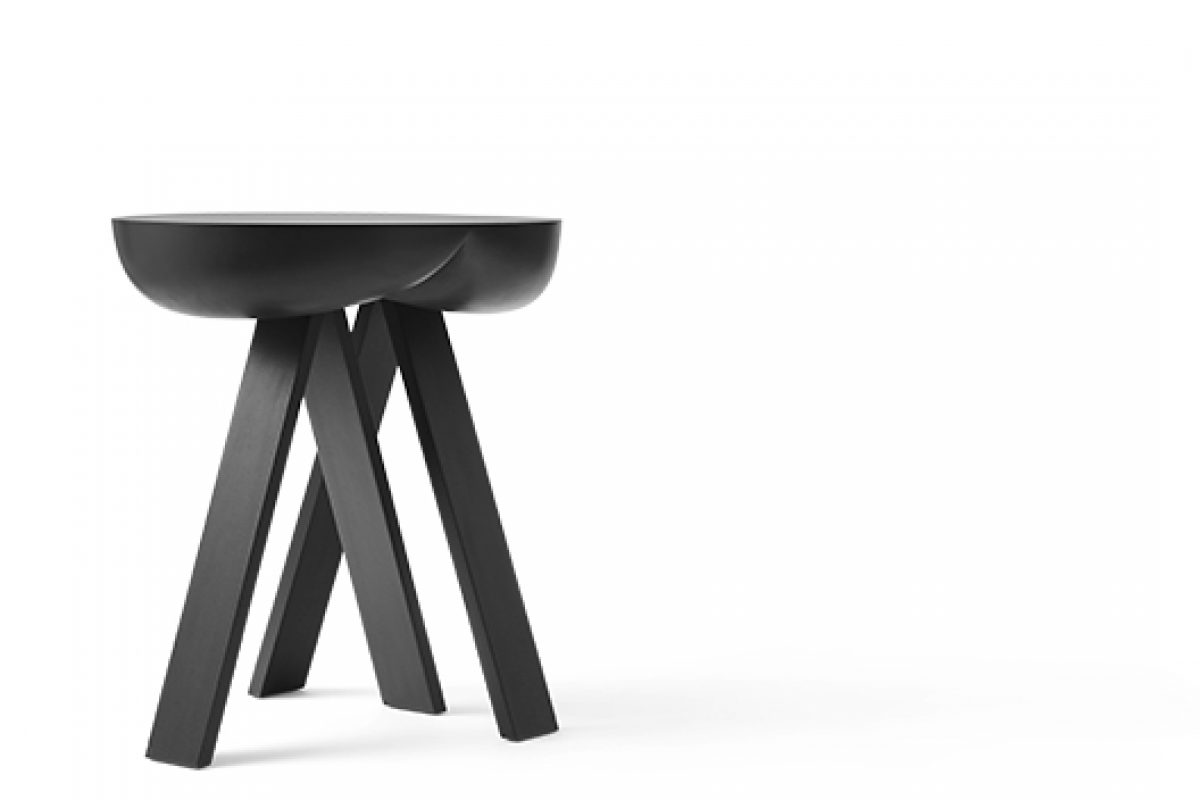 Striking Side Table No. 2 designed by PlueerSmitt for Karakter. Balance between art and design