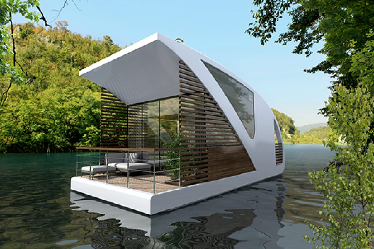Luxury floating hotel by Salt & Water where guests lodge in private catamaran-apartments