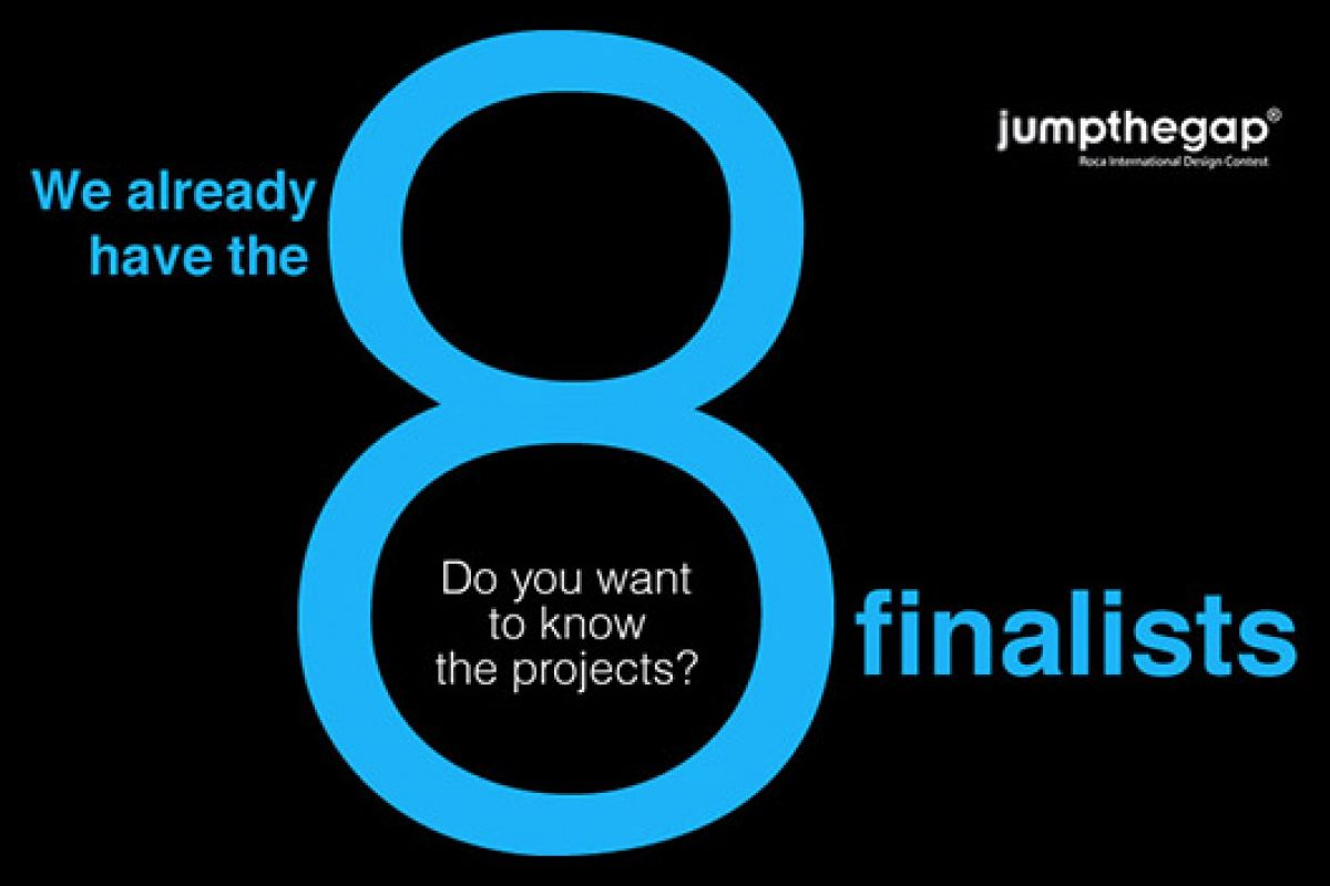 The jury of the Jumpthegap international design contest selects the 8 finalists