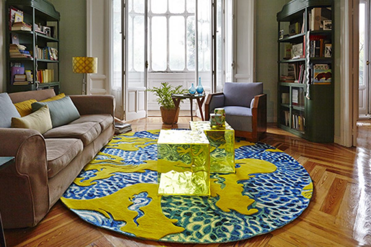 Cadeneta, the free-style embroidery rug collection by GAN