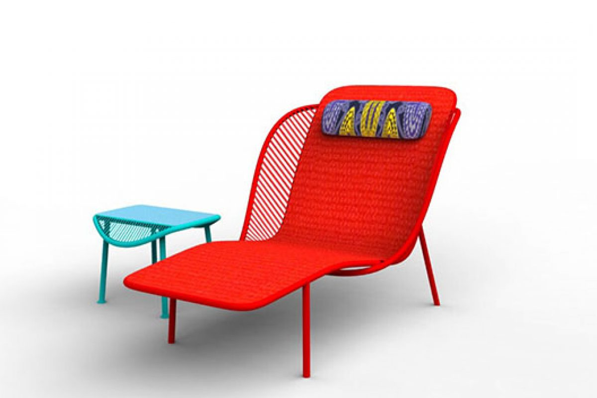 Imba collection designed by Federica Capitani for Moroso and made in Dakar. An invitation to relax