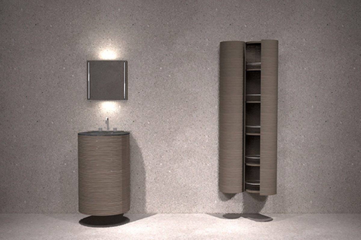 Joan Lao designs the vanity unit collection Water Space for American company Ronbow