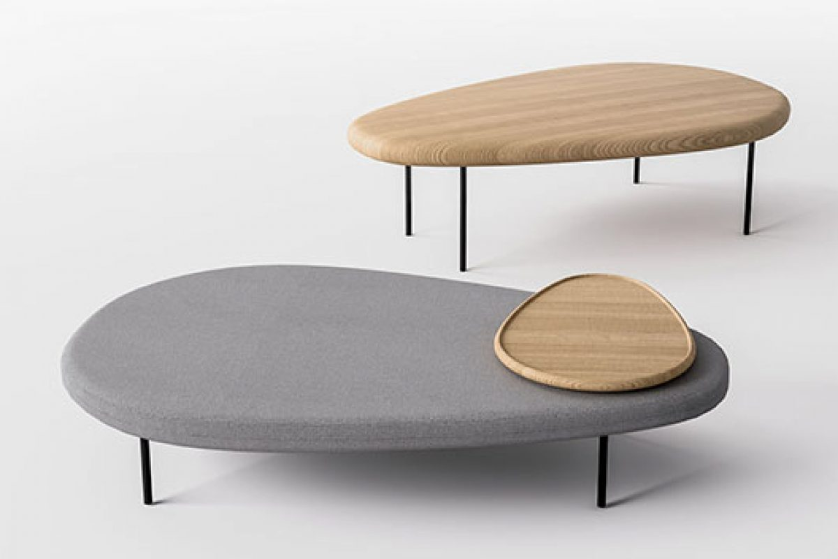 Lily, the modular and adjustable service table designed by Marc Thorpe for Casamania