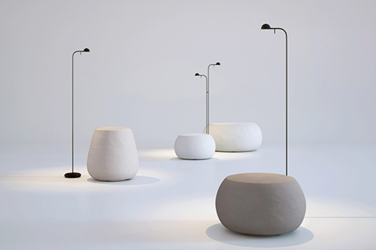 Pin by Ichiro Iwasaki for Vibia, a new interpretation on the ambient and task lighting lamp