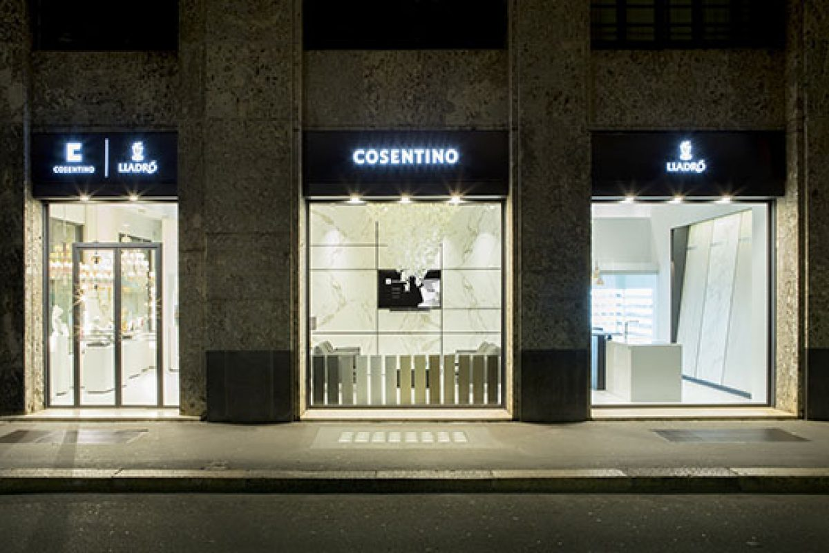 Lladró and Cosentino open a showroom together in Milan