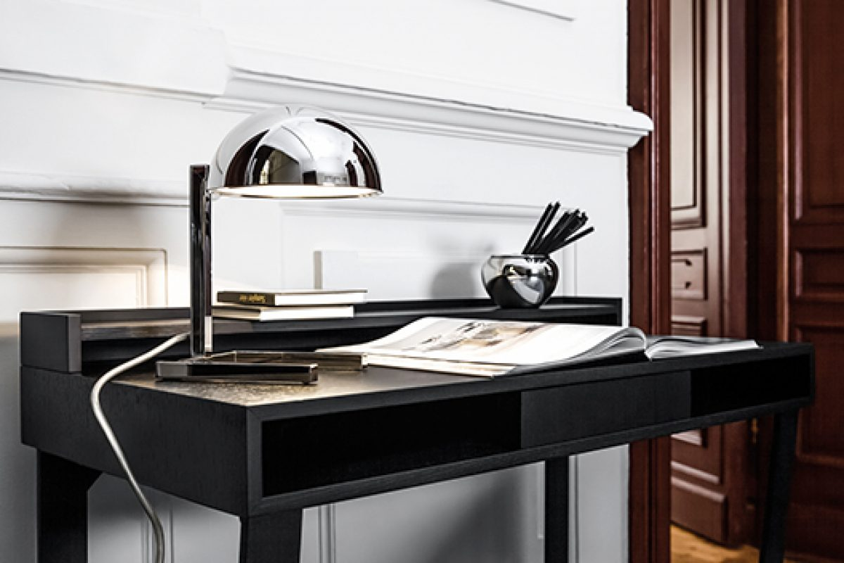 Anniversary of the iconic table lamp MJA (Memory of Jacques Adnet) by Lumen Center Italia