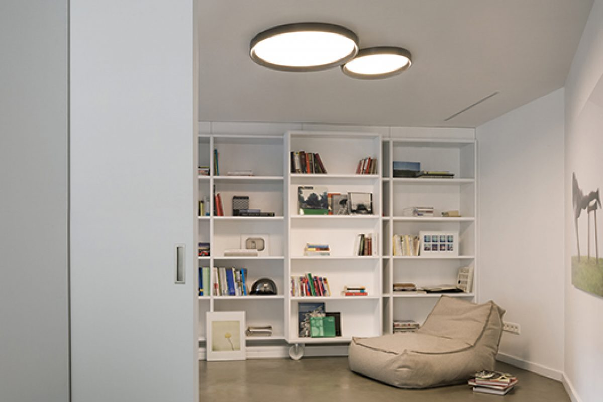 Ramos & Bassols designs Up for Vibia, essential and timeless ceiling lamps with 'natural lighting' effect