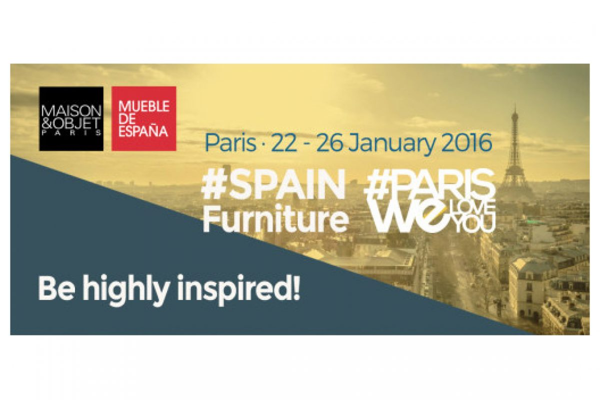 18 Spanish furniture companies on exhibition at the Maison&Objet Paris 2016 coordinated by Anieme