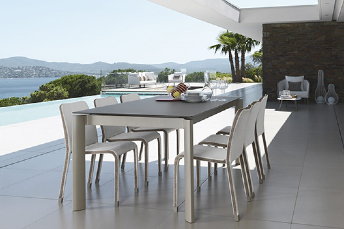 Outdoor furniture collection Milo designed by Marco Acerbis. The romantic elegance of Talenti