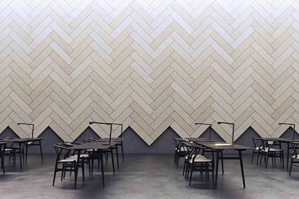 New acoustic tile Baux Plank inspired by bricklaying, parquets and woodwork
