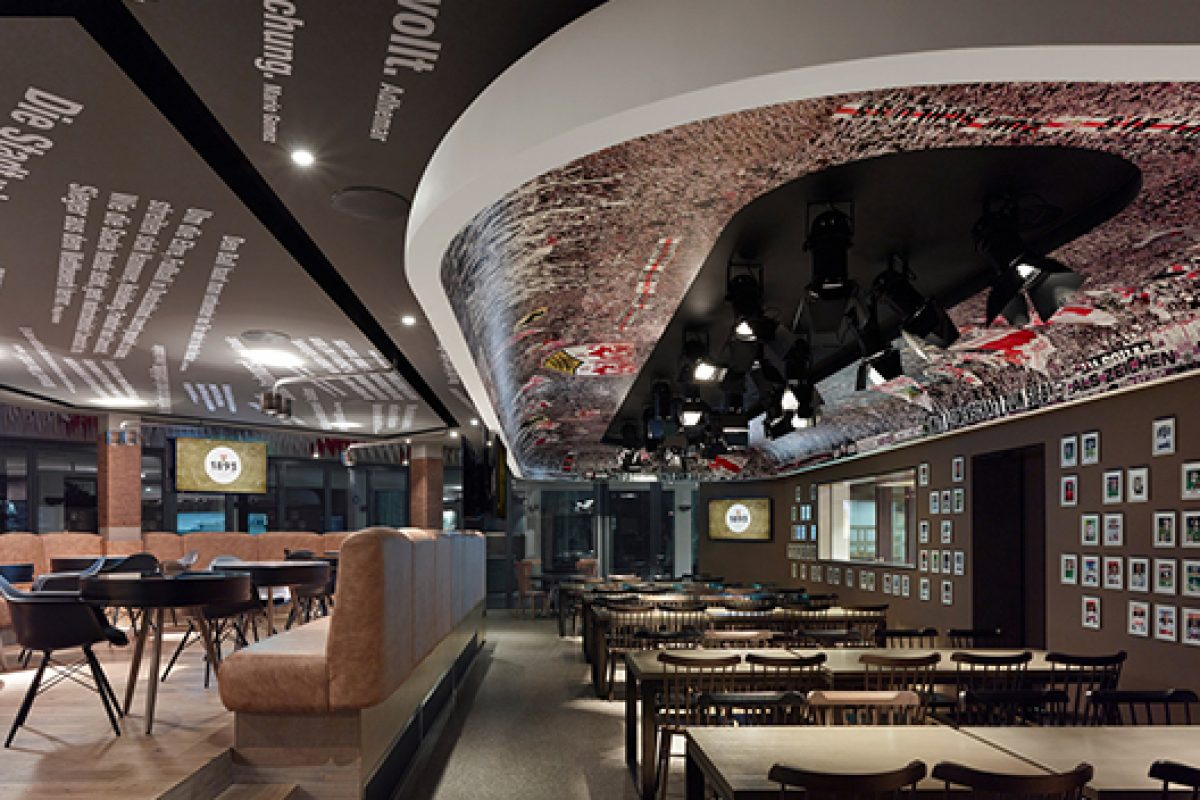 Ippolito Fleizt Group designs the 1893 VfB Stuttgart Club restaurant. A genuine stadium atmosphere