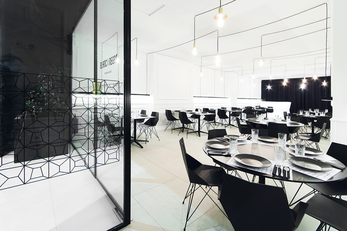 Ramón Esteve designed the Blanc i Negre Restaurant in Ontinyent. Purist and contemporaneous