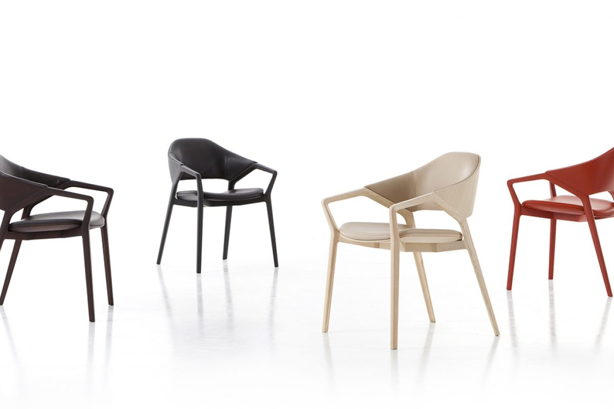 Ora Ïto designed Ico for Cassina, a tribute to 814 chair created by Ico Parisi in 1950